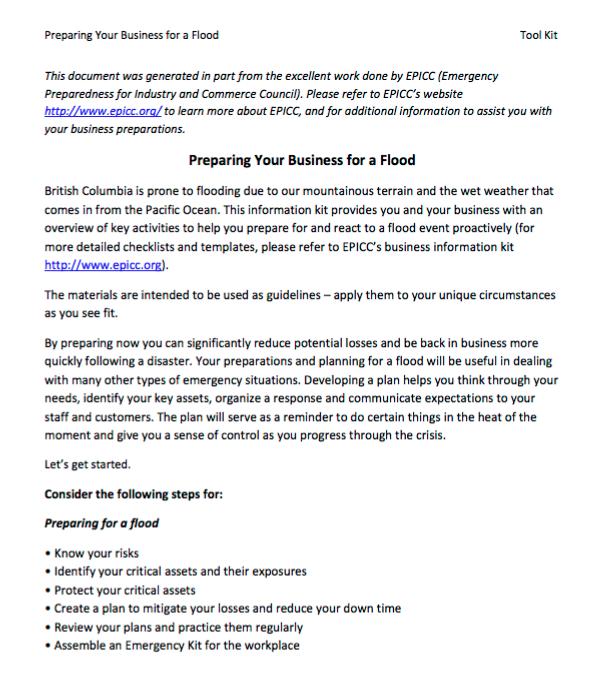 Businesses | FloodSmart Canada