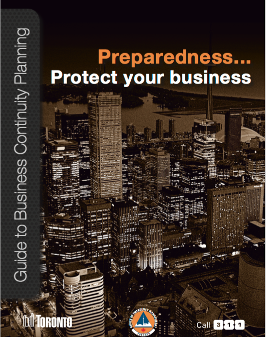 City of Toronto – Guide to Business Continuity Planning